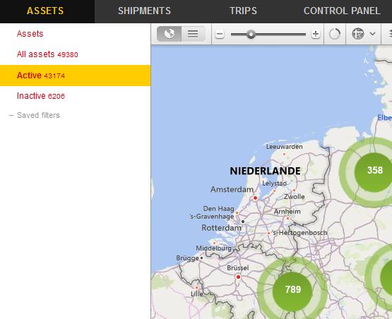 Map view screenshot